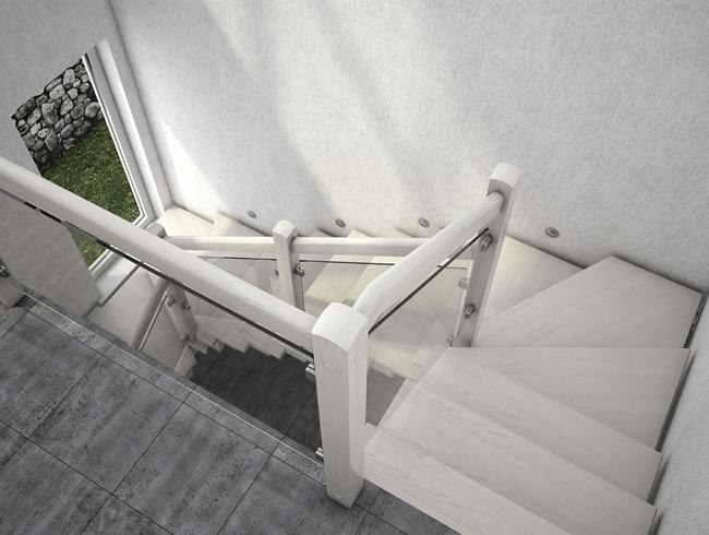п образная лестница на металлокаркасе