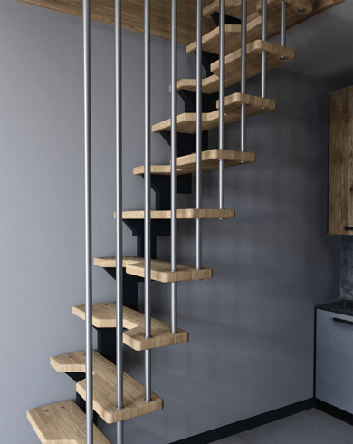 Современные лестницы на больцах