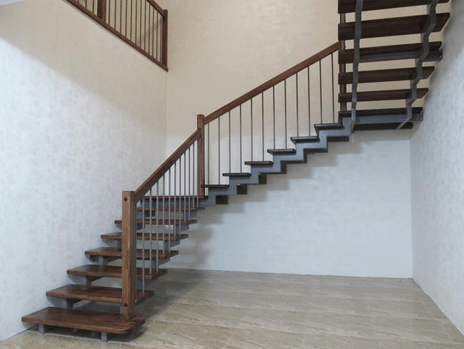 красивая металлическая лестница