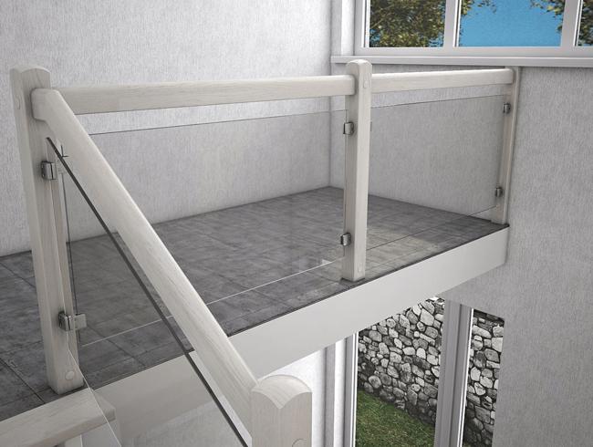 скляна огорожа сходів на 2 поверх