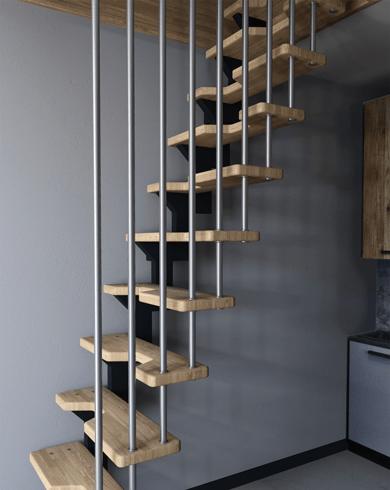 малогабаритні сходи на металокаркасі