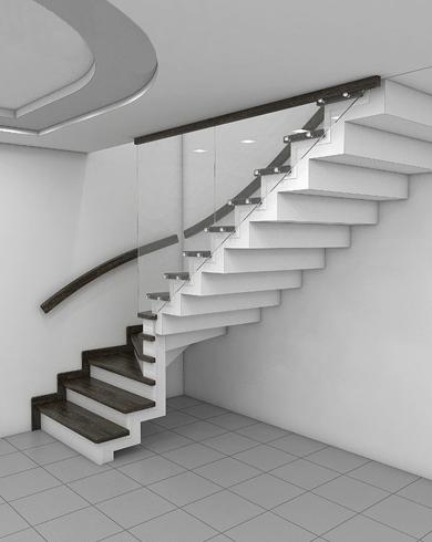 Подвесная лестница на второй этаж в квартиру