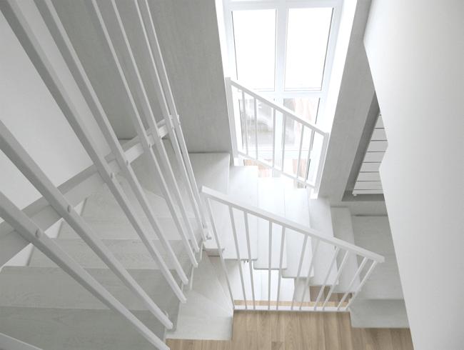 поворотні сходи з металу