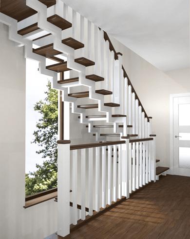 білі маршові металеві сходи