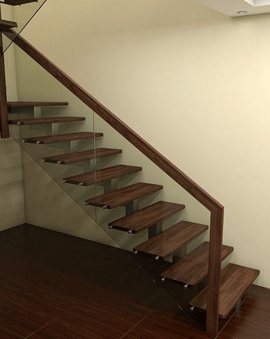 лестницы из металла со стеклянными ограждениями