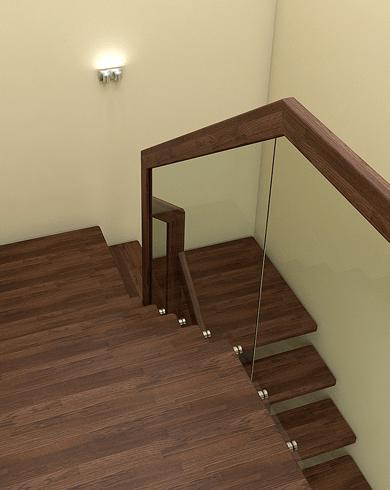сходи з металева з скляним огородженням