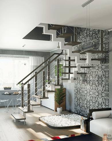 металеві сходи на другий поверх
